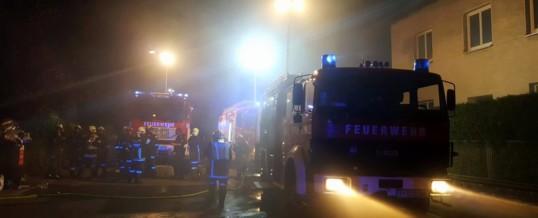 Fahrzeugbrand in Tiefgarage