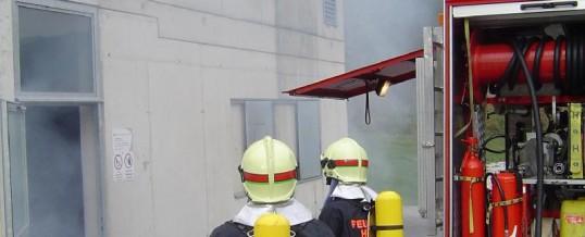 Brandhaustraining an der LFS Telfs