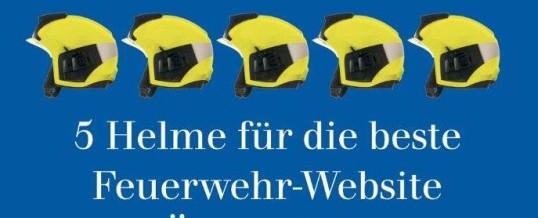 """""""Fünf Helme"""" für die Homepage der FF Hötting"""