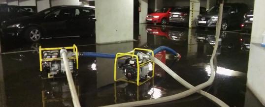 Wasserschaden in Tiefgarage und Keller