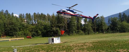 Alarmierung zu Waldbrand
